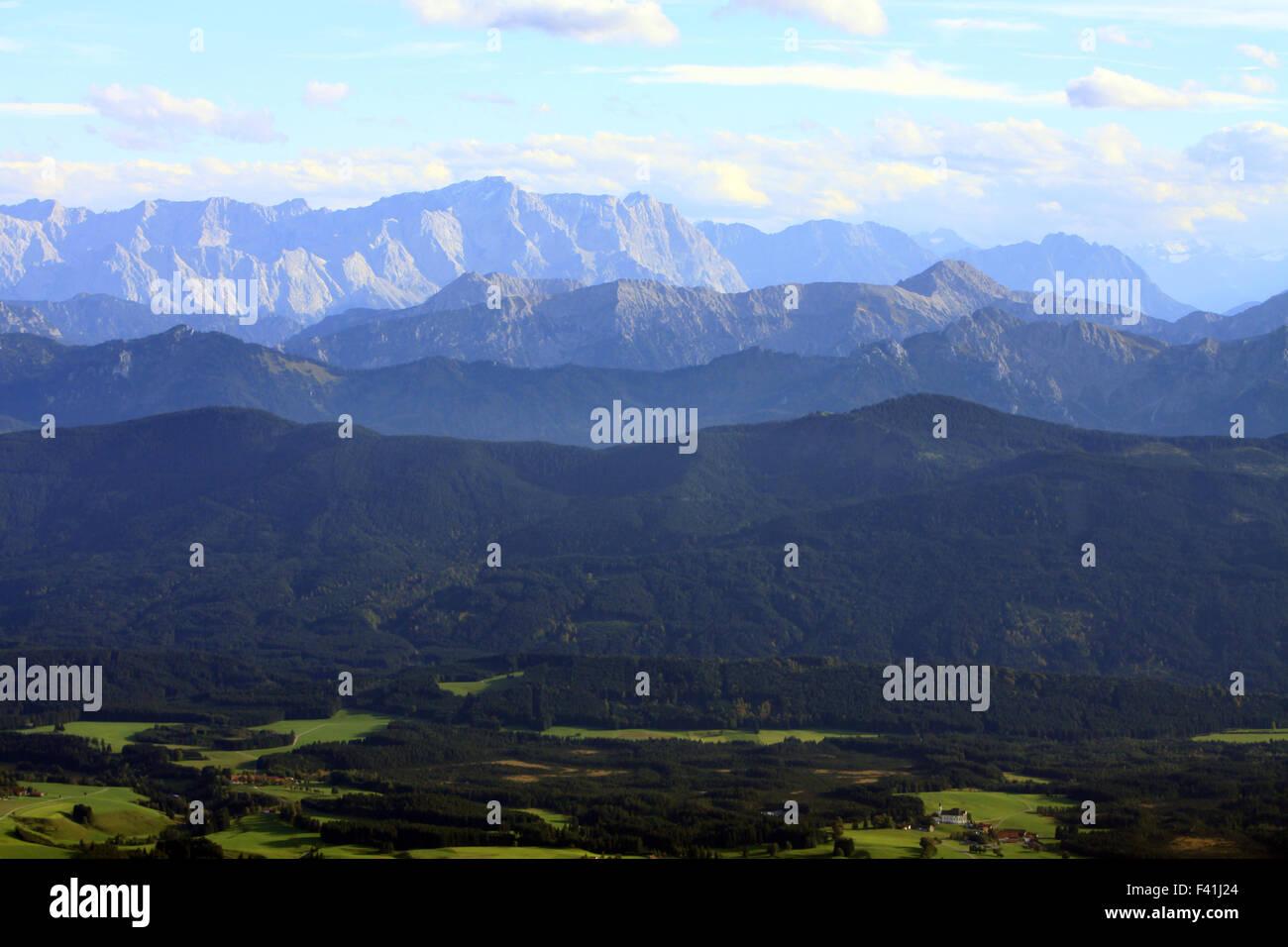 Allgäu and the Mountins of the Alps - Stock Image