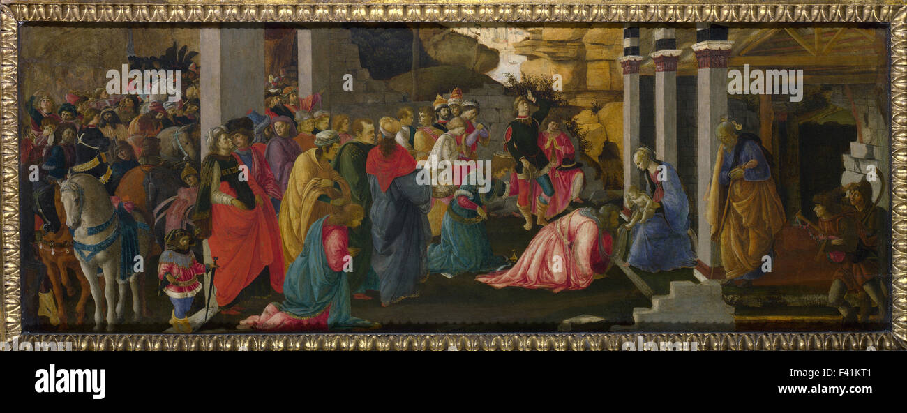 Sandro Botticelli - Adoration of the Kings - Stock Image