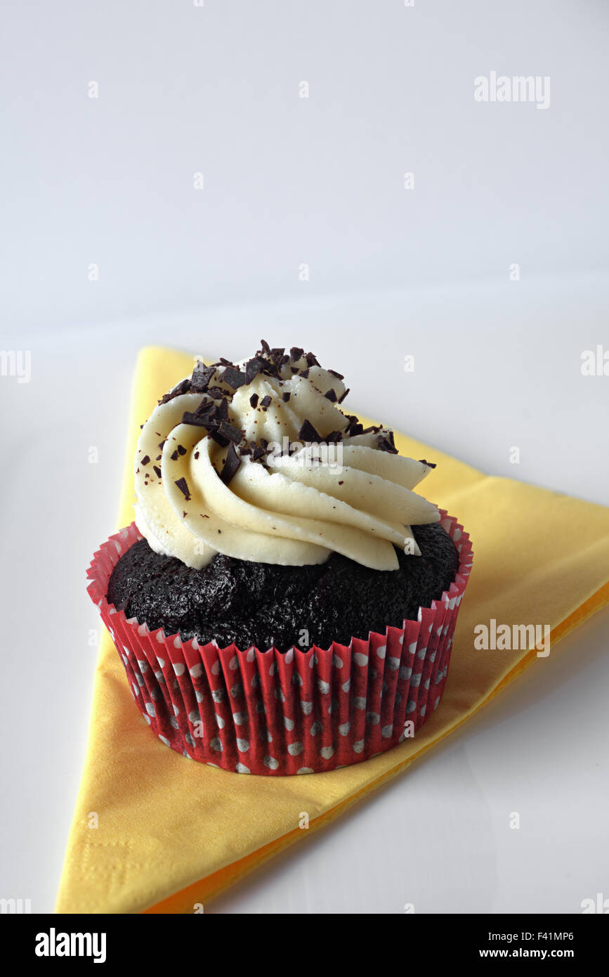 Cupcake on a Napkin - Stock Image