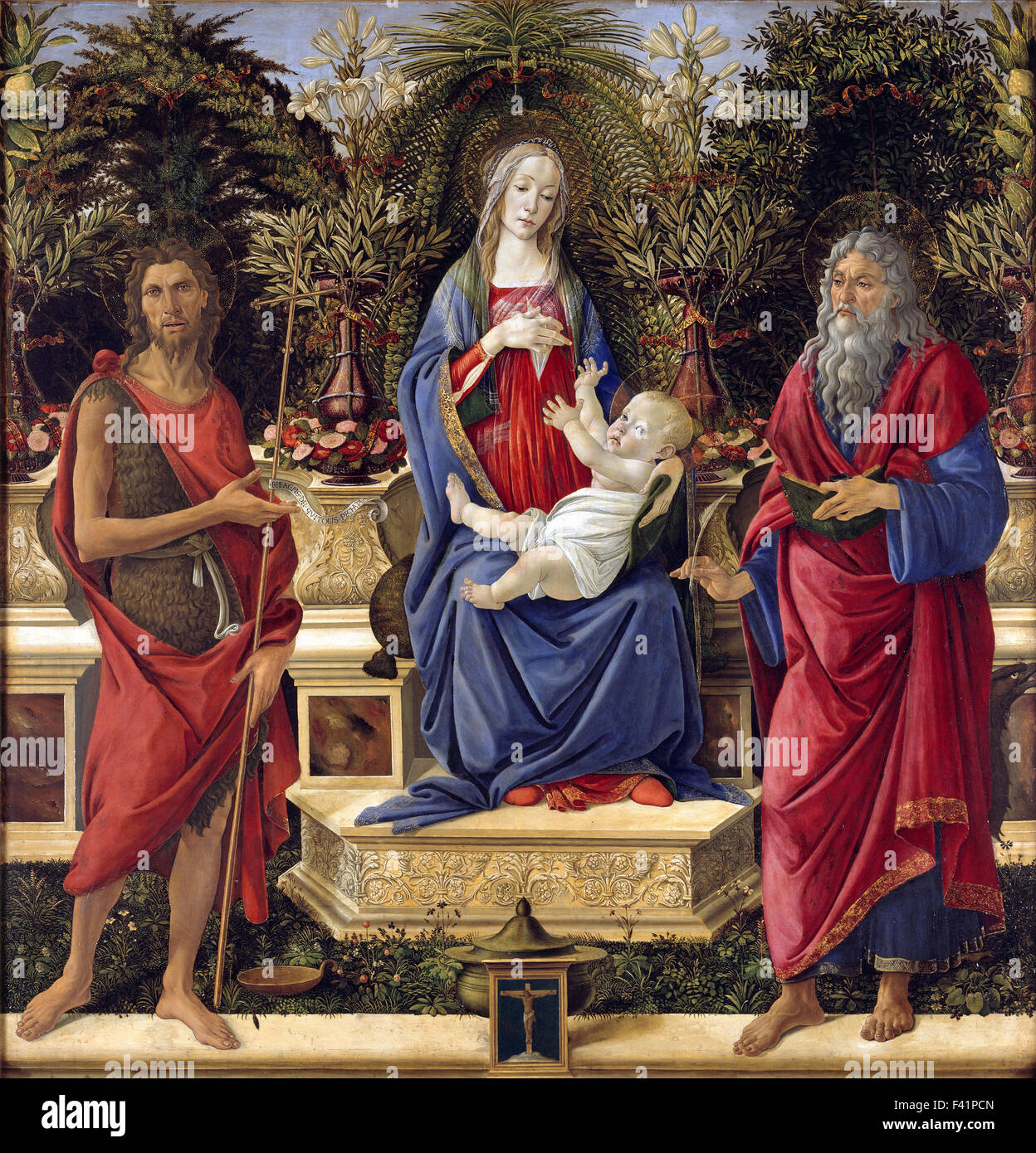 Sandro Botticelli - Madonna with Saints - Stock Image