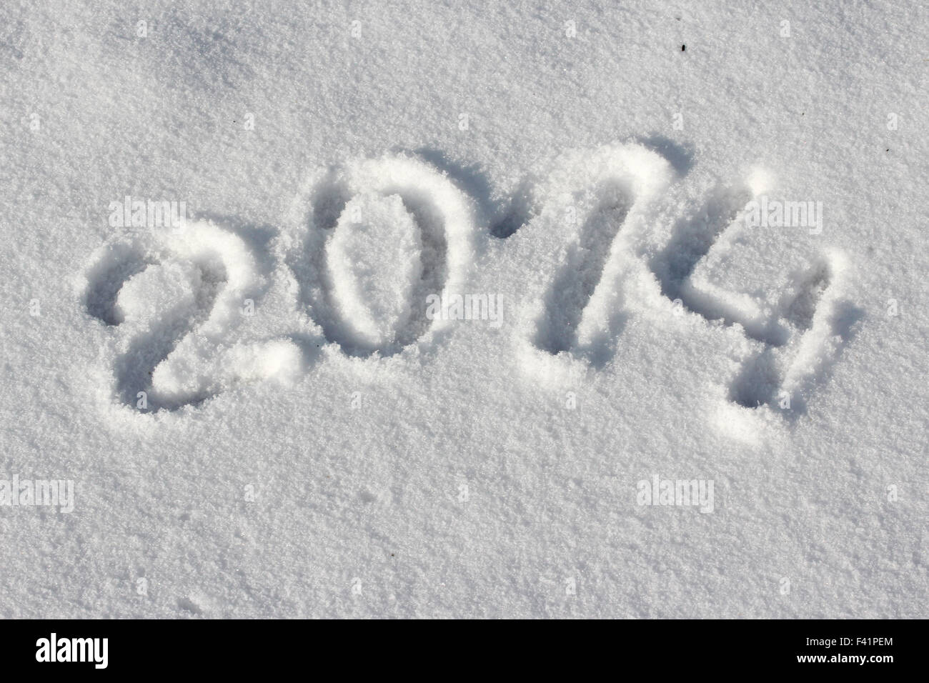 2014 in snow - Stock Image