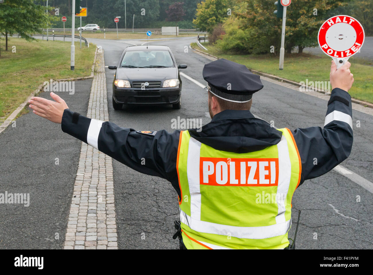 Stop and search - Stock Image