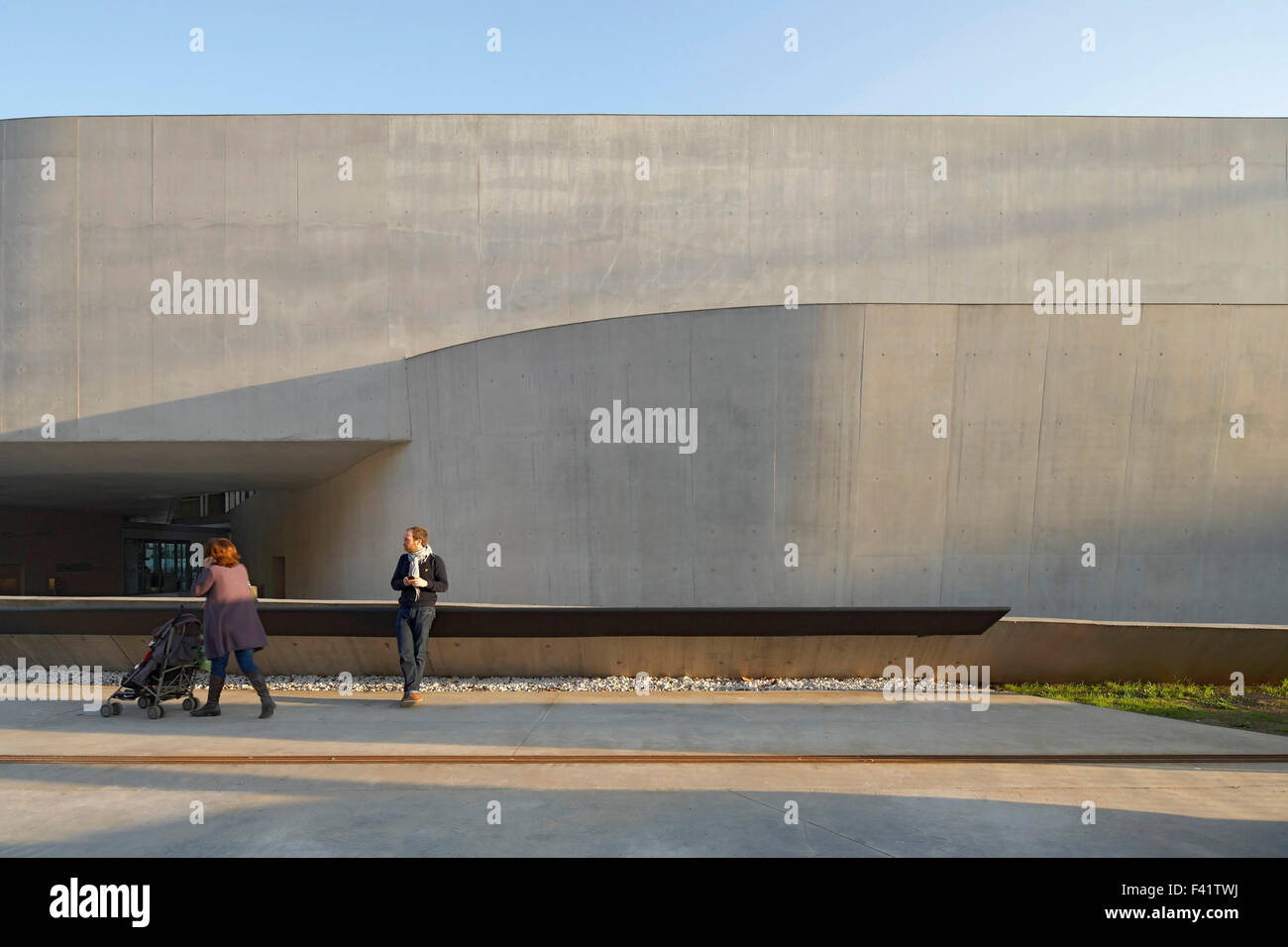MAXXI   National Museum of the 21st Century Arts, Rome, Italy. Architect: Zaha Hadid Architects, 2009. Exterior - Stock Image