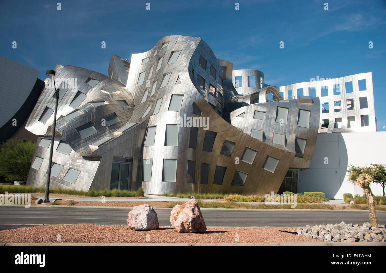 Lou Ruvo Center for Brain Health in the Cleveland Clinic, building by architect Frank Gehry in Las Vegas Nevada - Stock Image