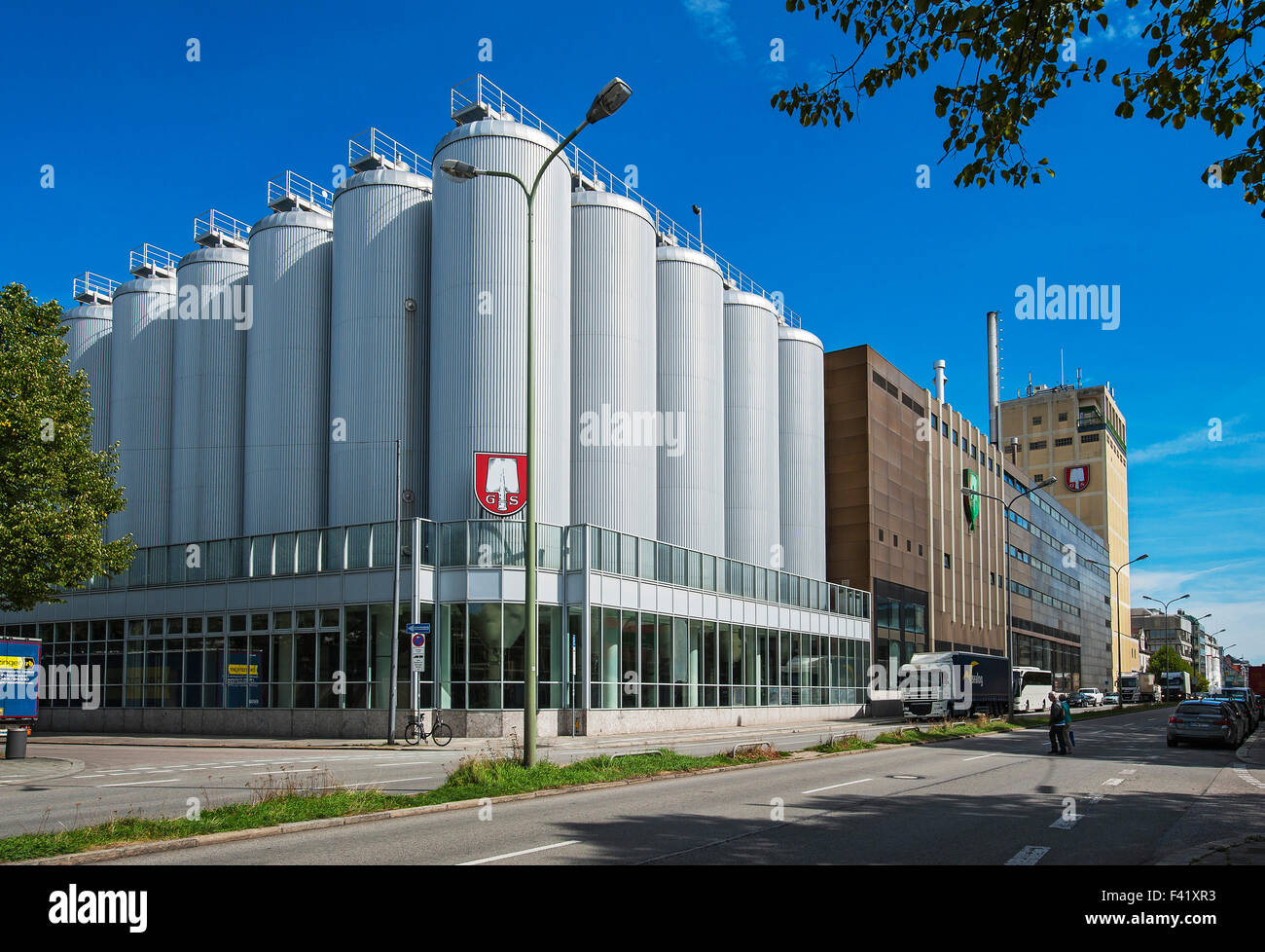 Brewery Spaten and Löwenbräu, Anheuser-Busch, filling or bottling plant, Munich, Bavaria, Germany - Stock Image