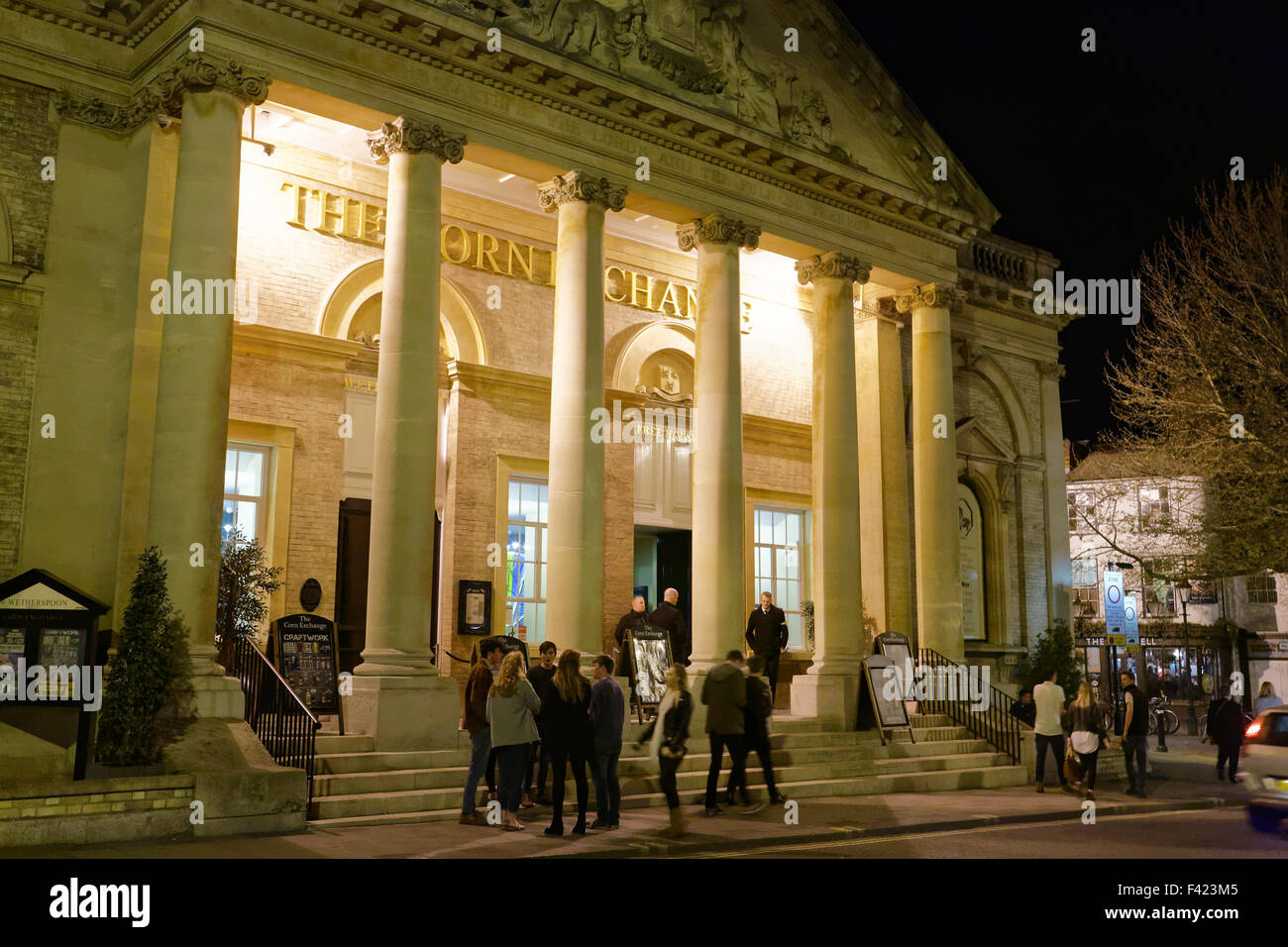 Wetherspoons in the Corn Exchange at Bury St Edmunds, UK - Stock Image