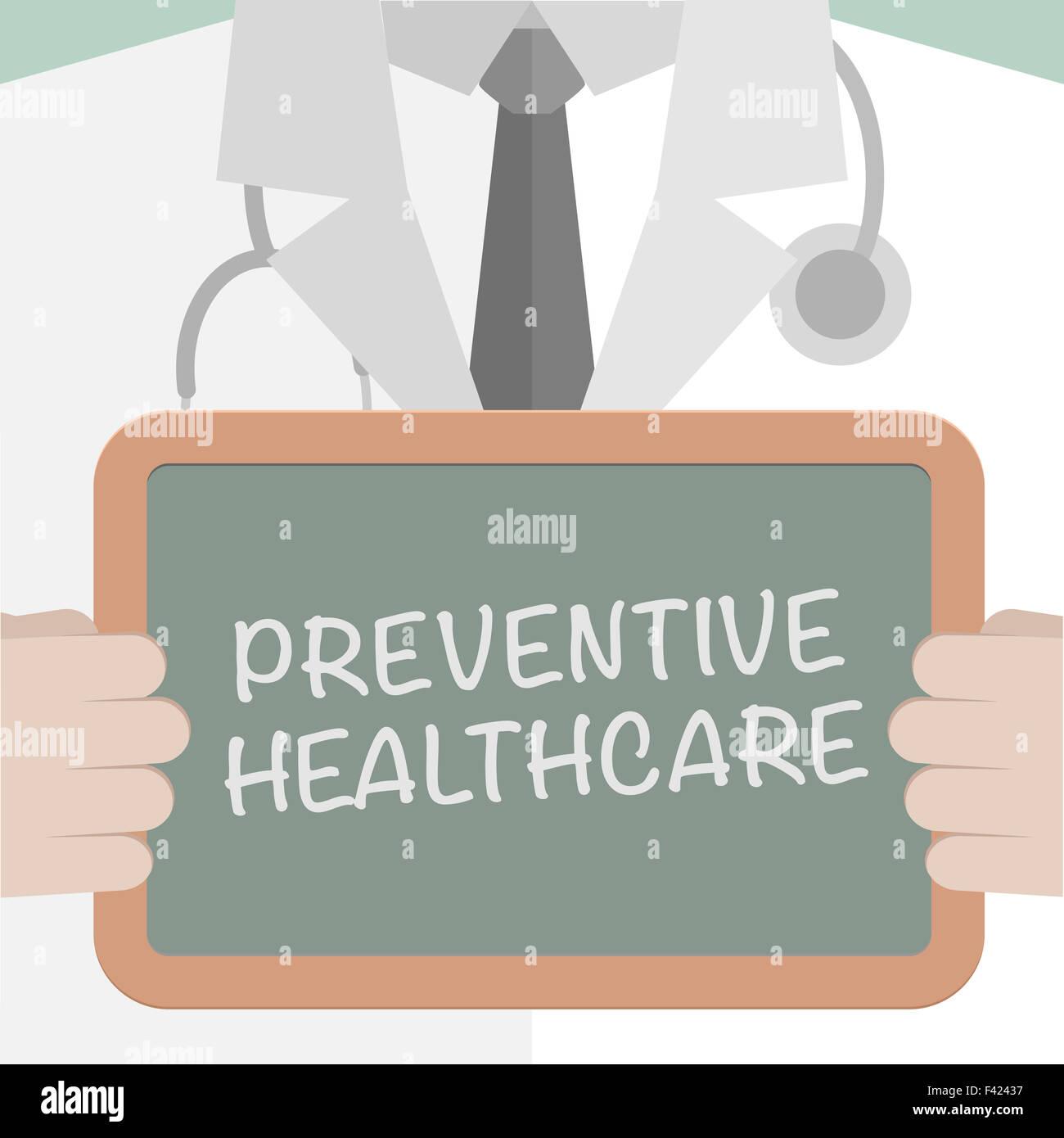Medical Board Preventive Healthcare - Stock Image