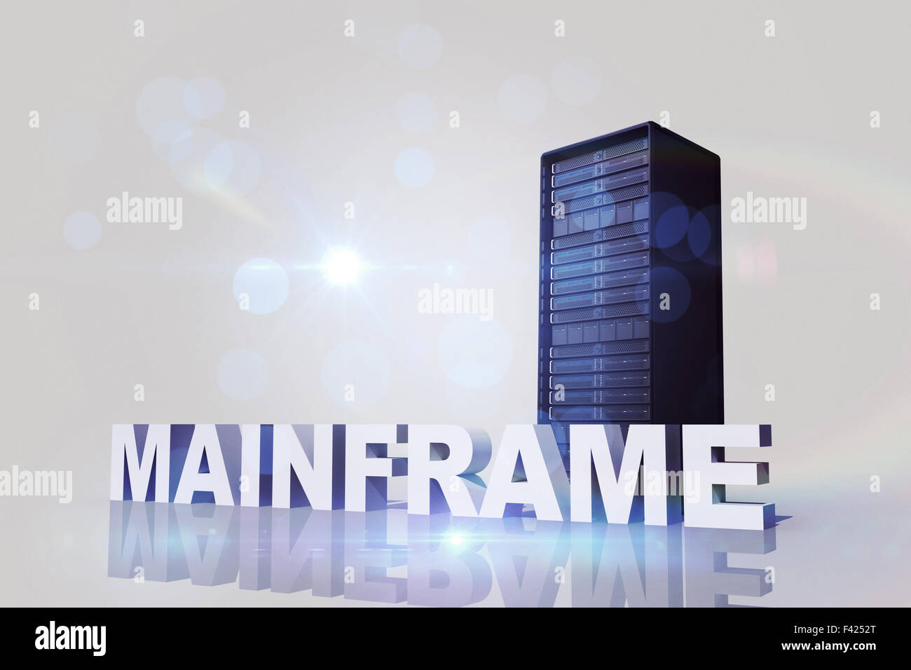Composite image of mainframe - Stock Image