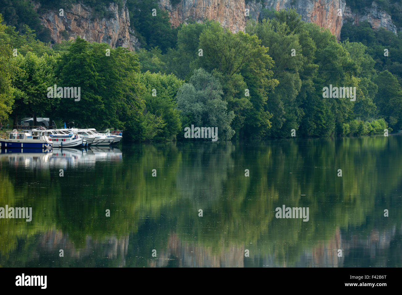 the River Lot at Vers, Quercy, France - Stock Image