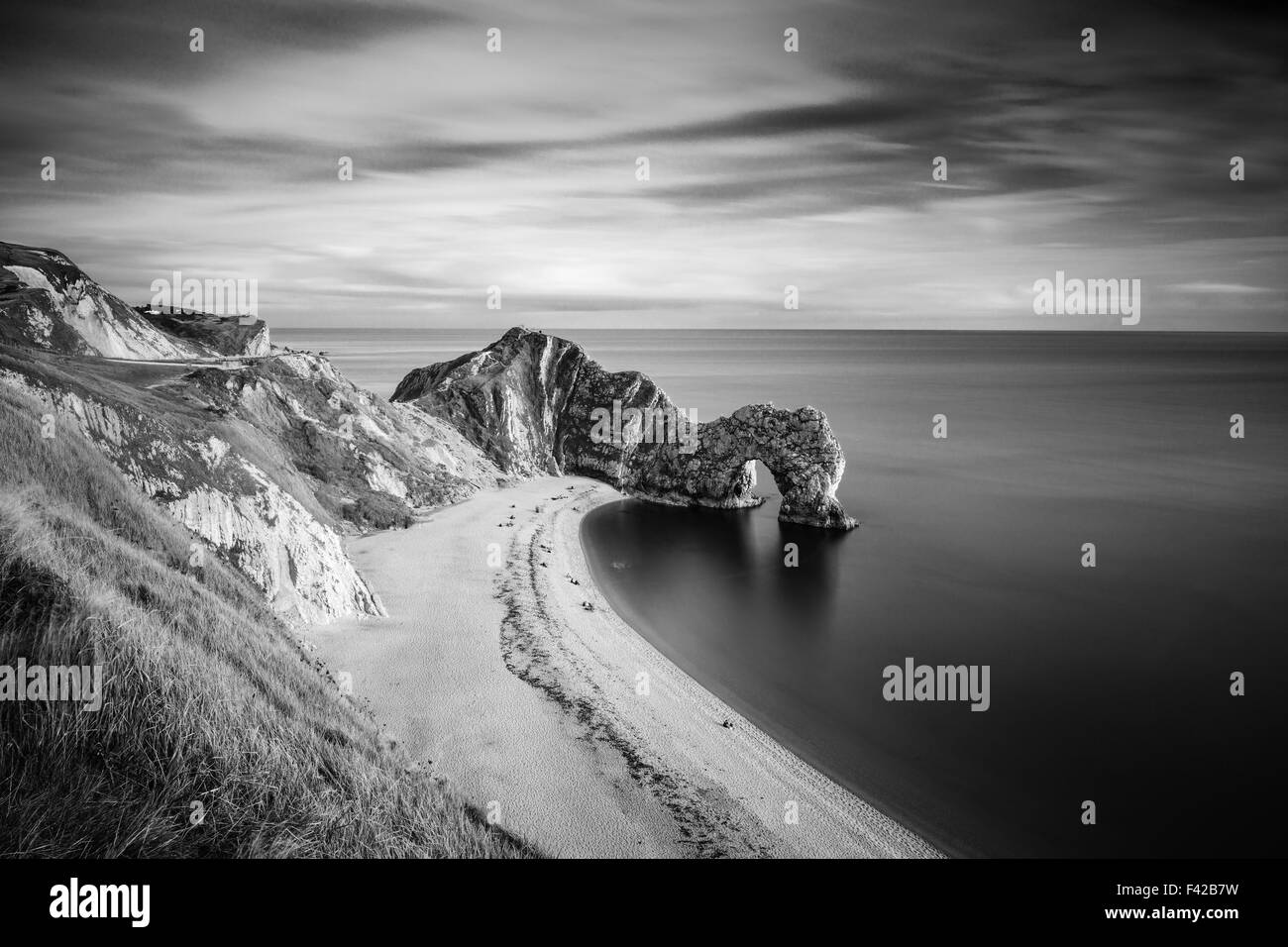 Durdle Door, Jurassic Coast, UNESCO site, Dorset, England, UK - Stock Image
