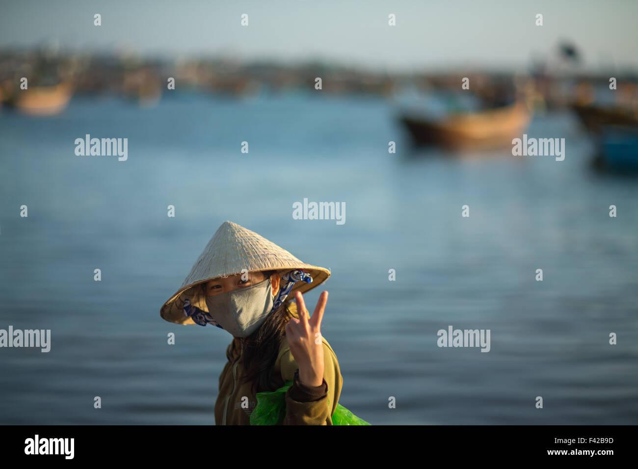 Mũi Né fishing village, Bình Thuận Province, Vietnam - Stock Image