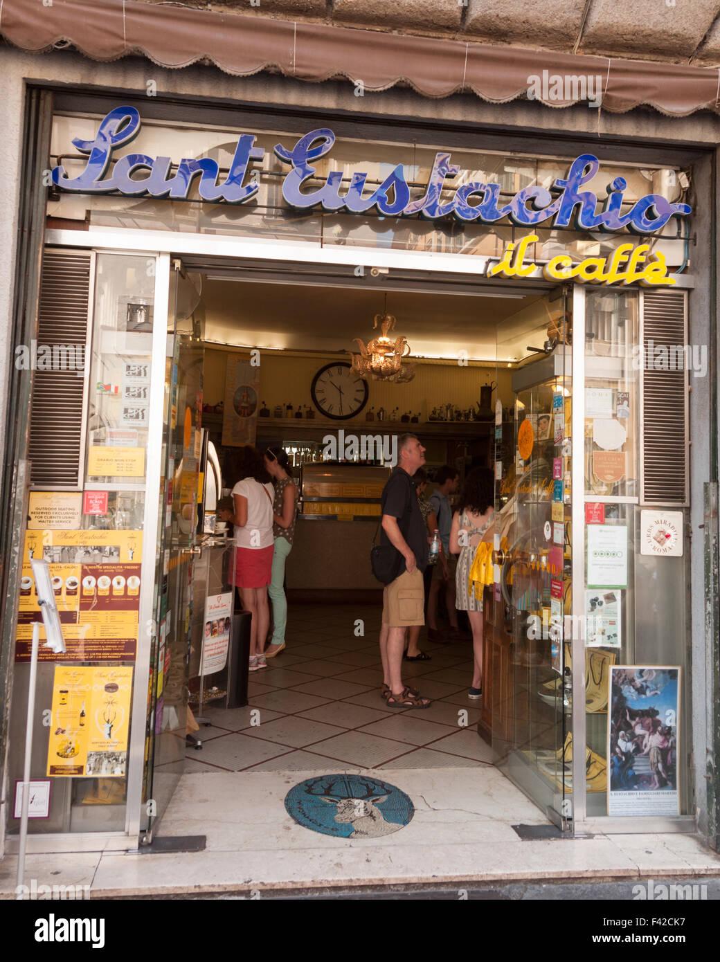 Sant'Eustacchio Il Caffe, Rome - Stock Image