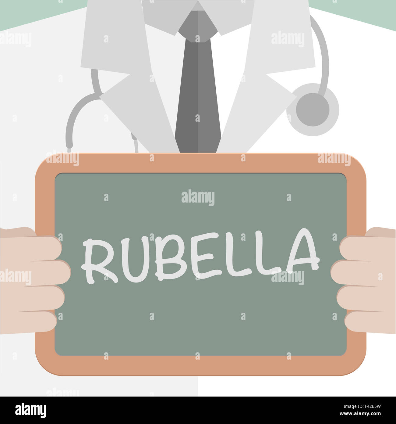 Medical Board Rubella - Stock Image