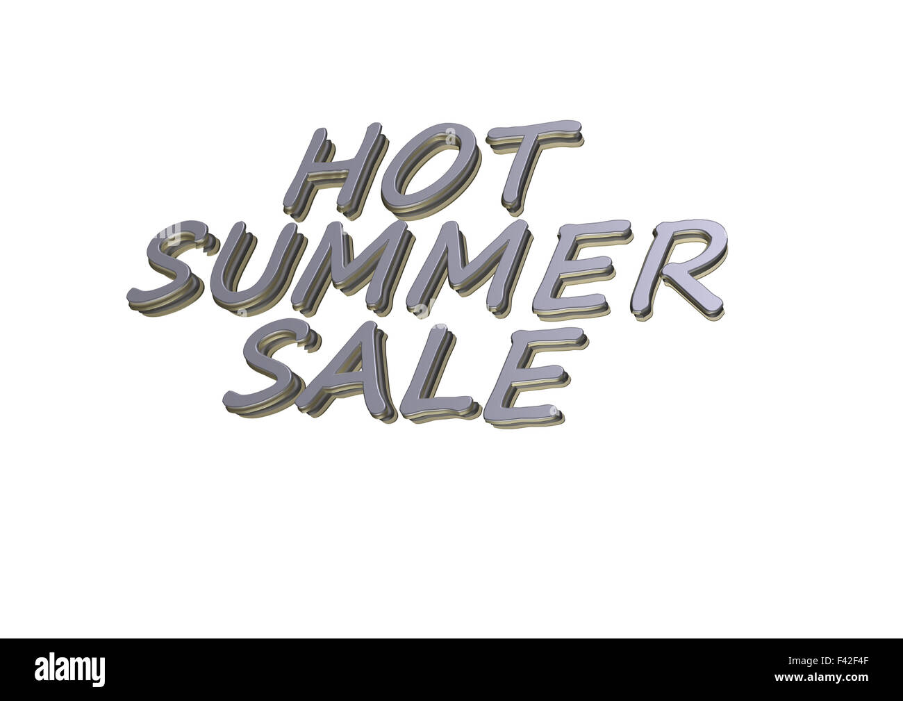 Three-dimensional inscription Hot Summer Sale - Stock Image