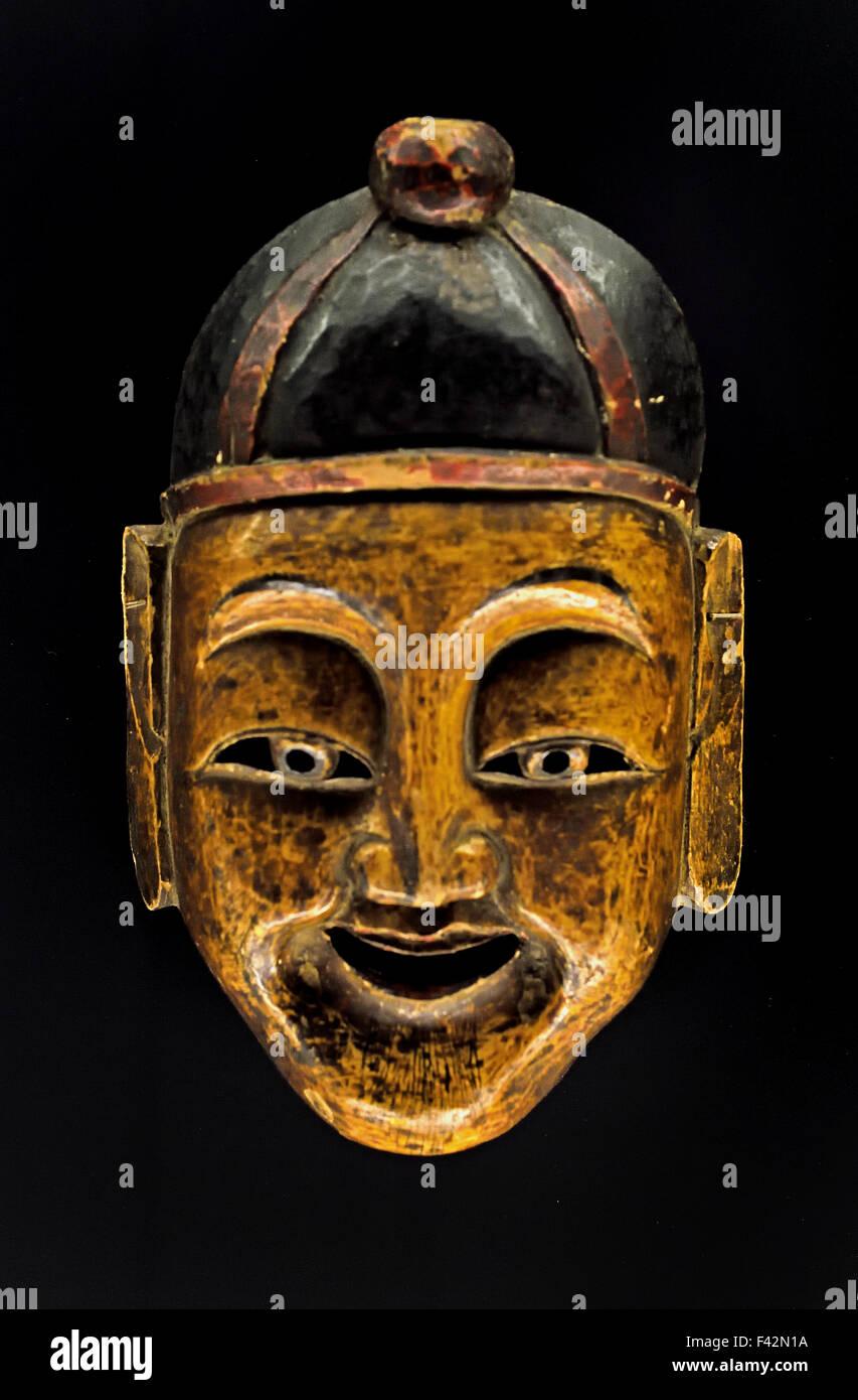 Mr Gan a scholar ( Tujia people Dejiang Guizou ) Qing 1644 -1911 Shanghai Museum of ancient Chinese art China - Stock Image