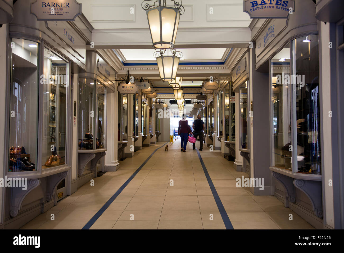Princes Arcade Boutique Shopping Centre in Piccadilly - London UK - Stock Image