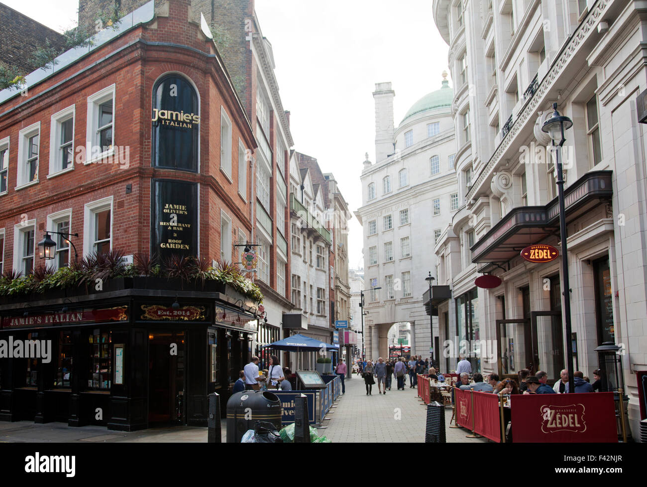 Bars And Restaurants On Sherwood Street In Piccadilly In London Uk