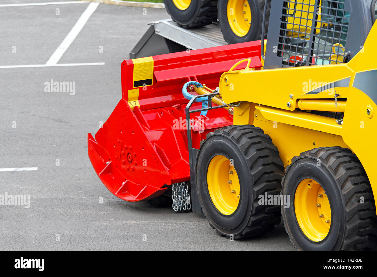 Skid steer attachment - Stock Image