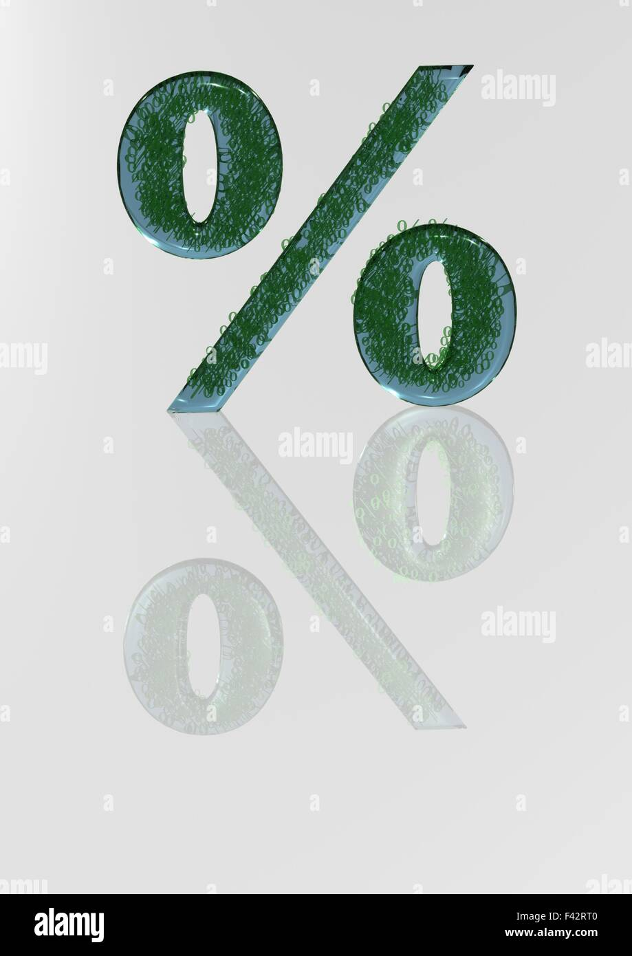 The big sign of percent. - Stock Image