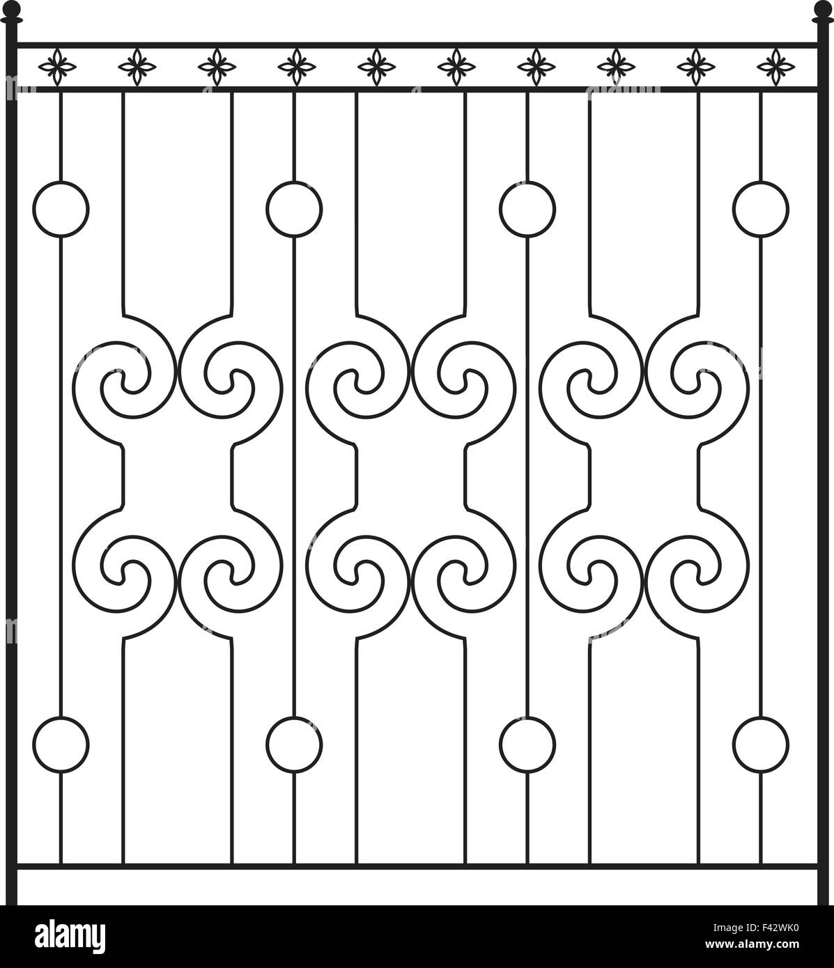 Iron Railing Stock Vector Images
