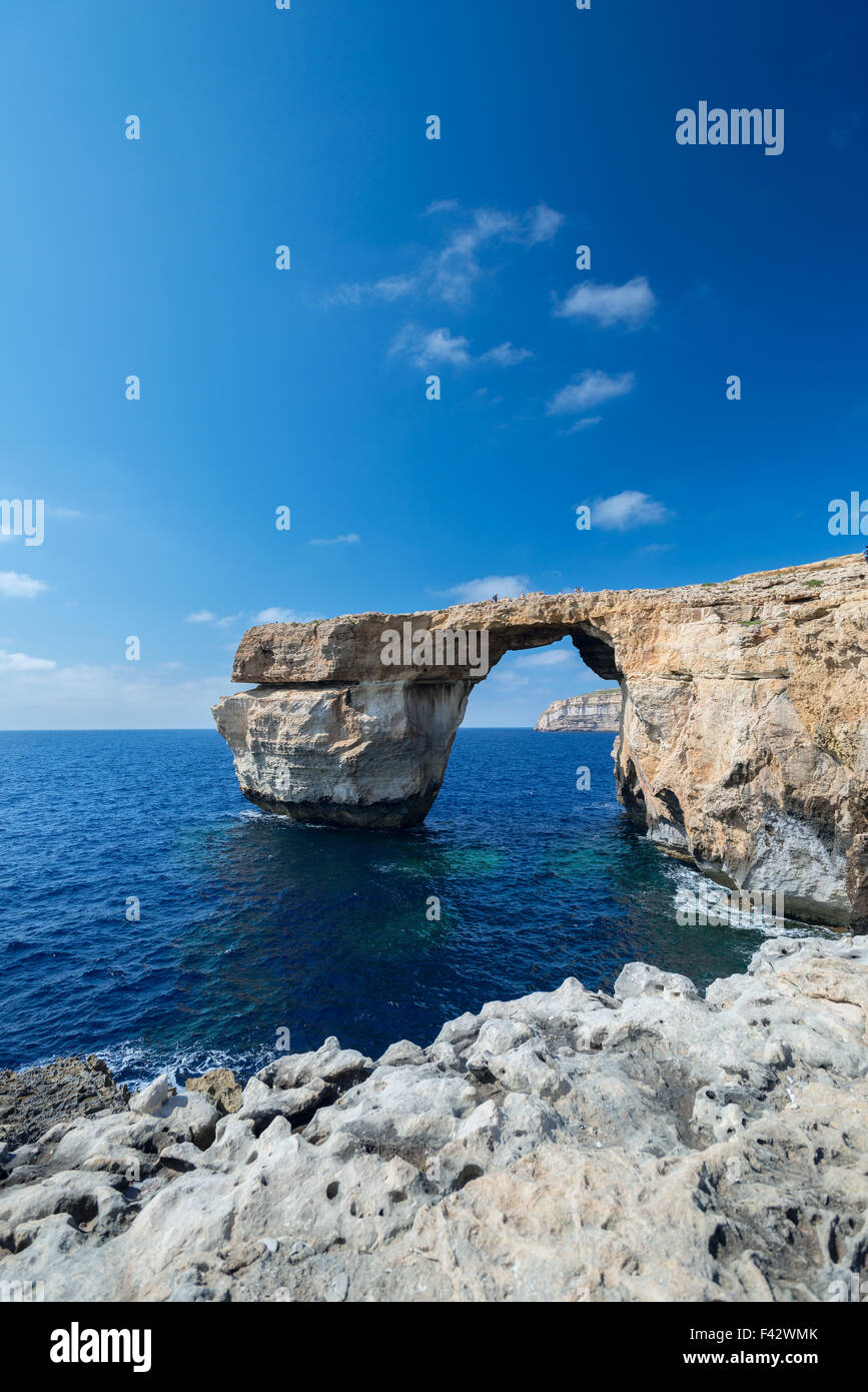 Azure Window formation on Gozo - Stock Image