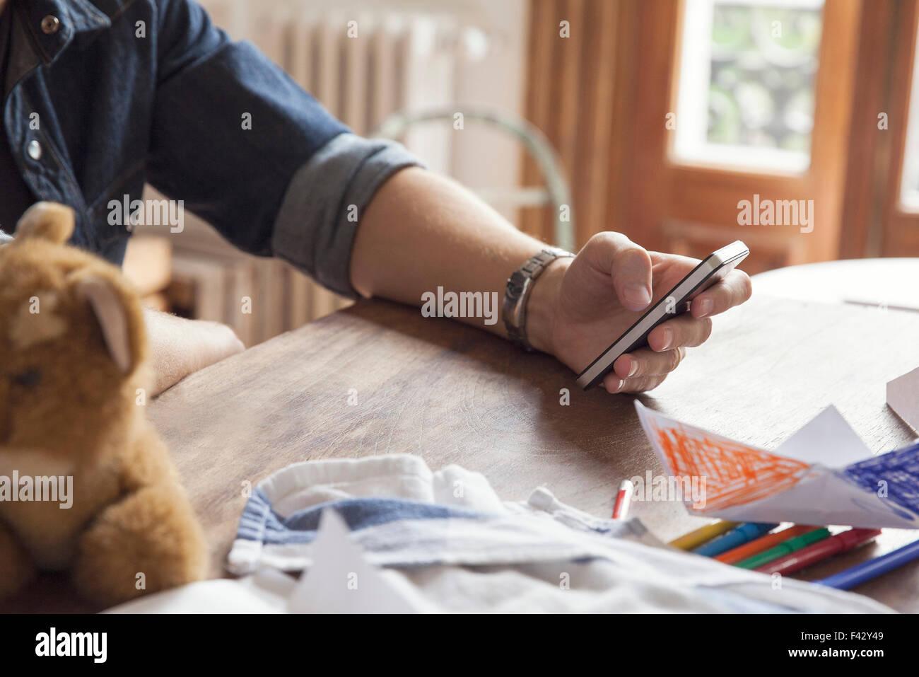 Using smartphone - Stock Image