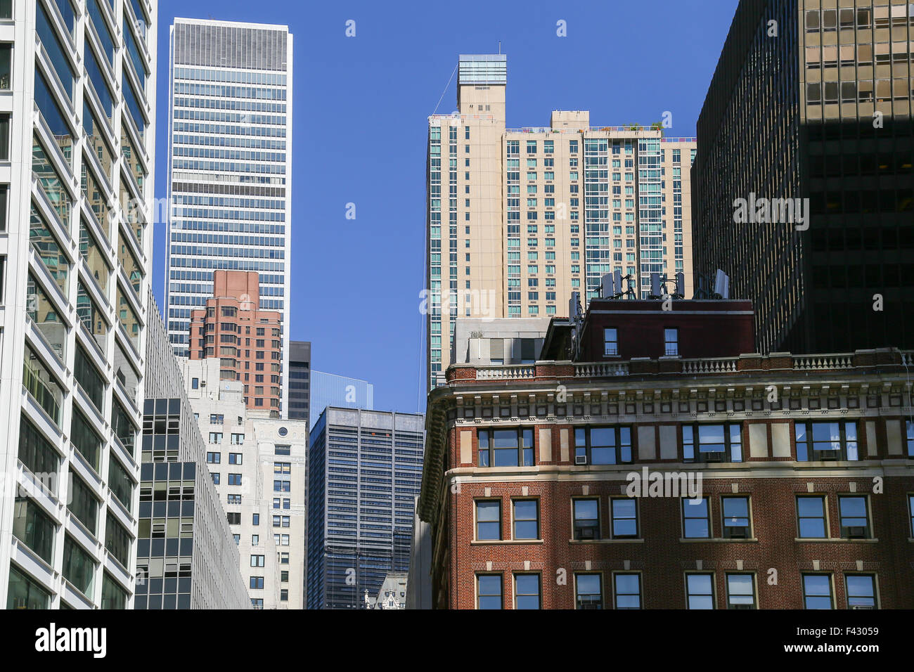 Downtown Manhattan - Stock Image