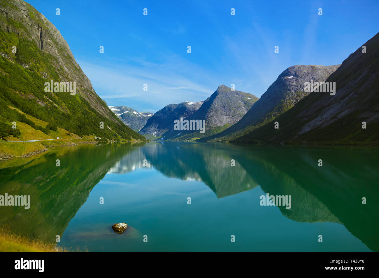 Fjord in Norway - Stock Image