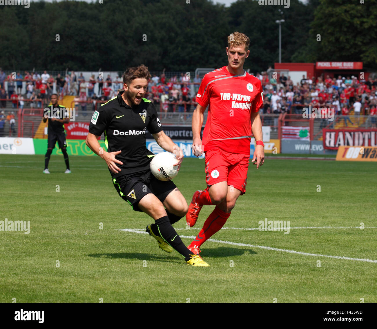 sports, football, Regional League West, 2015/2016, Rot Weiss Oberhausen versus Alemannia Aachen 1:4, Stadium Niederrhein - Stock Image