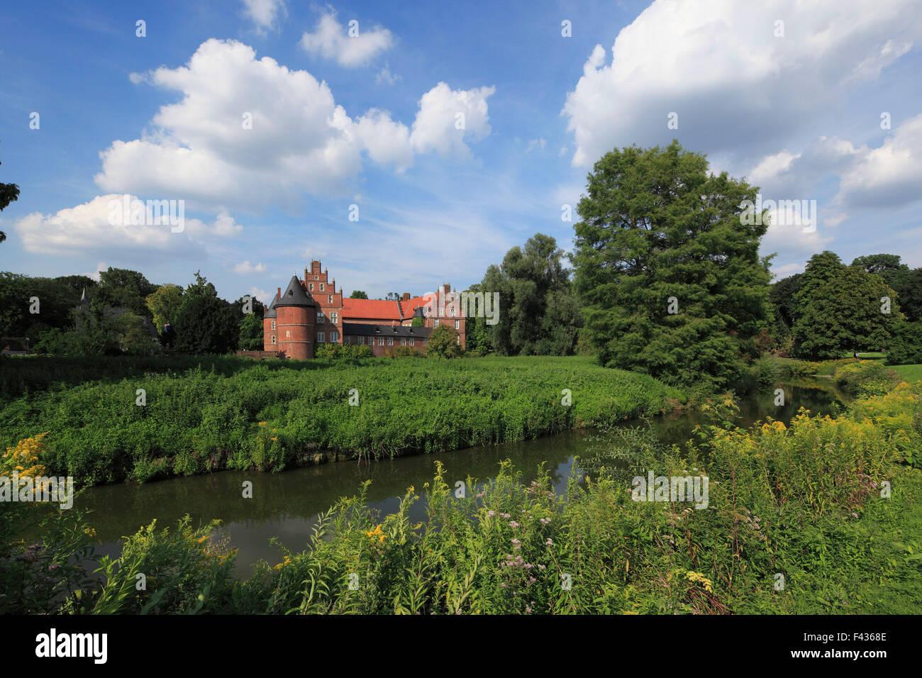 Englischer Landschaftsgarten, Schlosspark und Wasserschloss Herten, Ruhrgebiet, Nordrhein-Westfalen, im Schloss Stock Photo