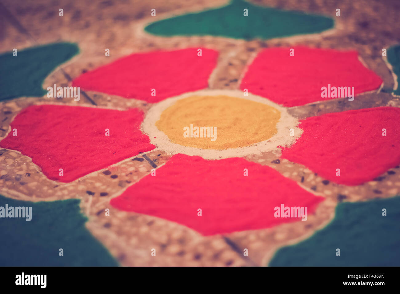 skillful rangoli for diwali celebration - Stock Image