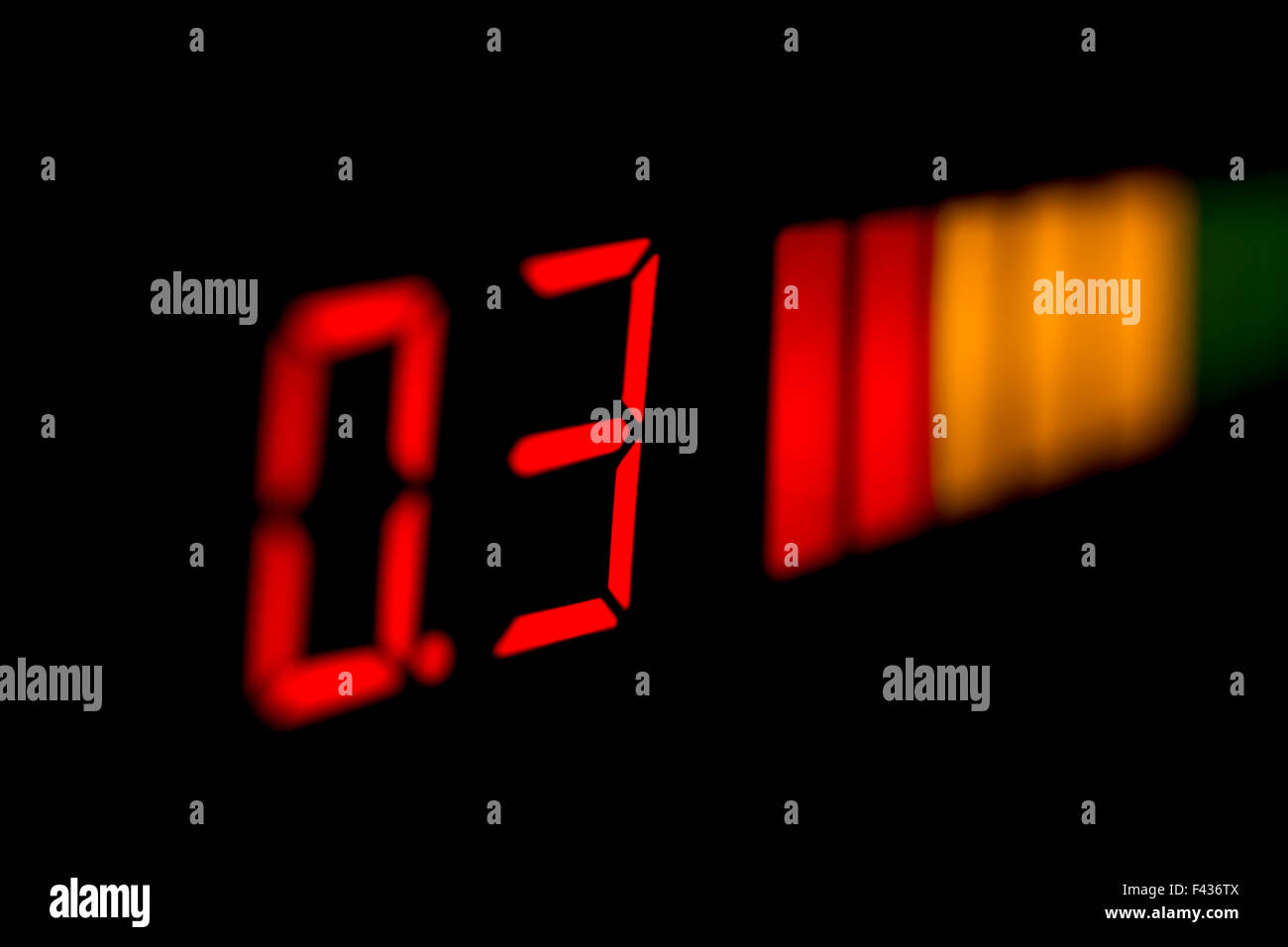 Digital display car parking sensor - Stock Image