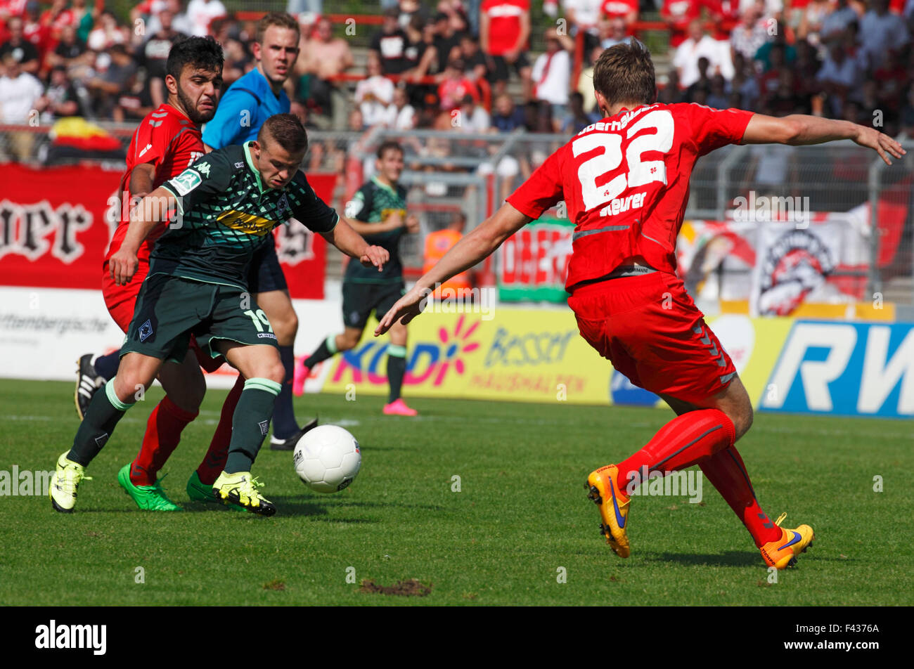sports, football, Regional League West, 2015/2016, Rot Weiss Oberhausen versus Borussia Moenchengladbach U23 2:0, Stock Photo