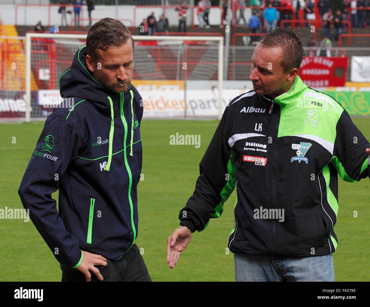 sports, football, Regional League West, 2015/2016, Rot Weiss Oberhausen versus FC Kray 1:3, Stadium Niederrhein - Stock Image