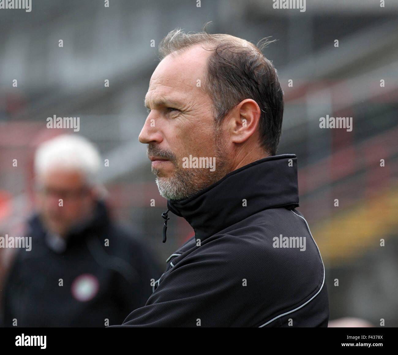 sports, football, Regional League West, 2015/2016, Rot Weiss Oberhausen versus FC Kray 1:3, Stadium Niederrhein Stock Photo