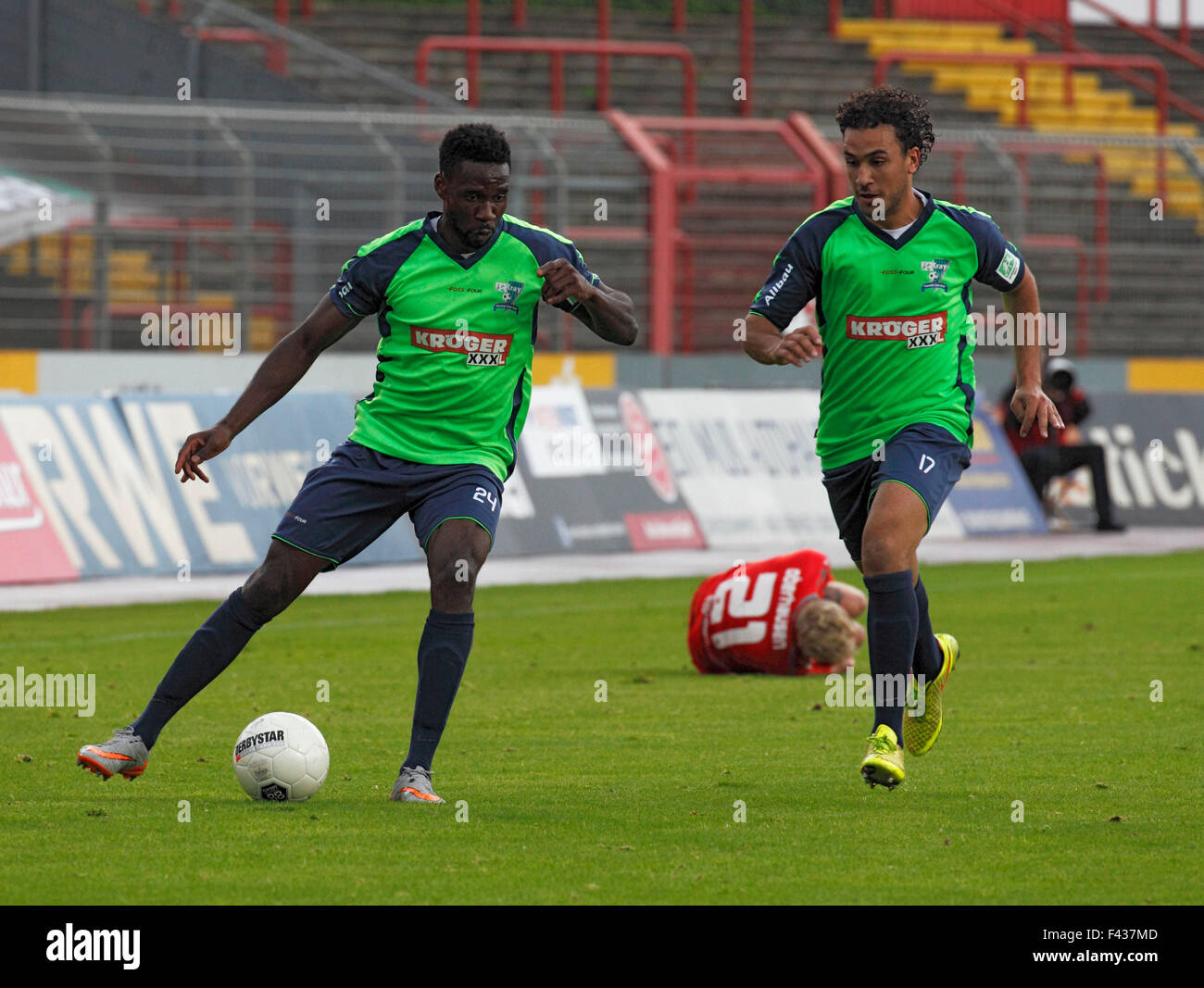 sports, football, Regional League West, 2015/2016, Rot Weiss Oberhausen versus FC Kray 1:3, Stadium Niederrhein - Stock Image