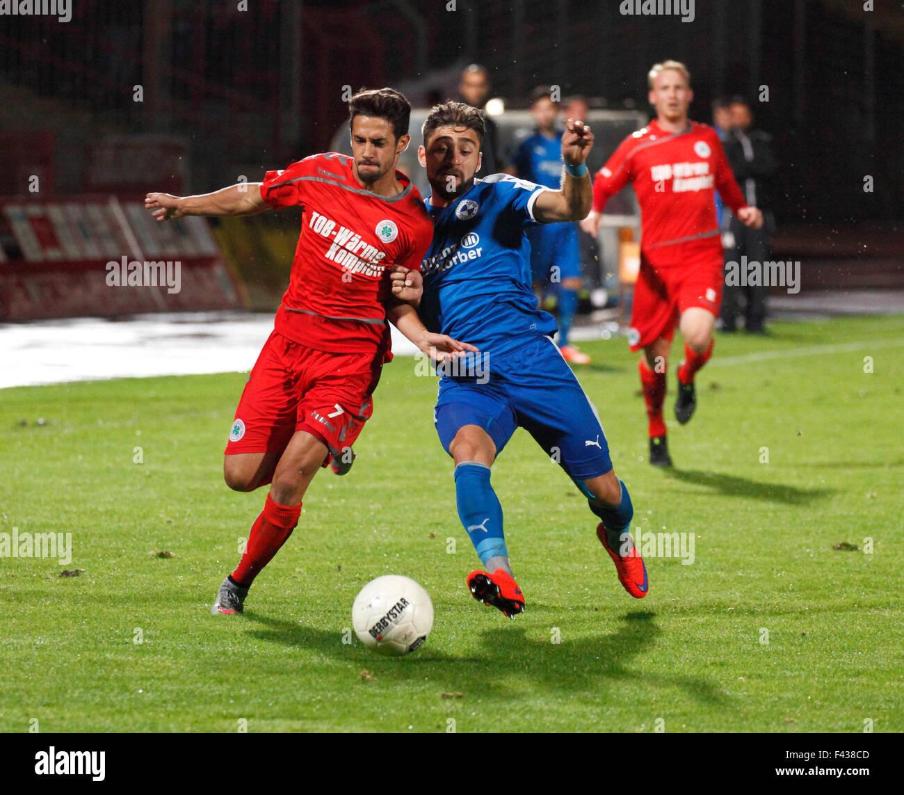 sports, football, Regional League West, 2015/2016, Rot Weiss Oberhausen versus VfL Sportfreunde Lotte 2:0, Stadium - Stock Image