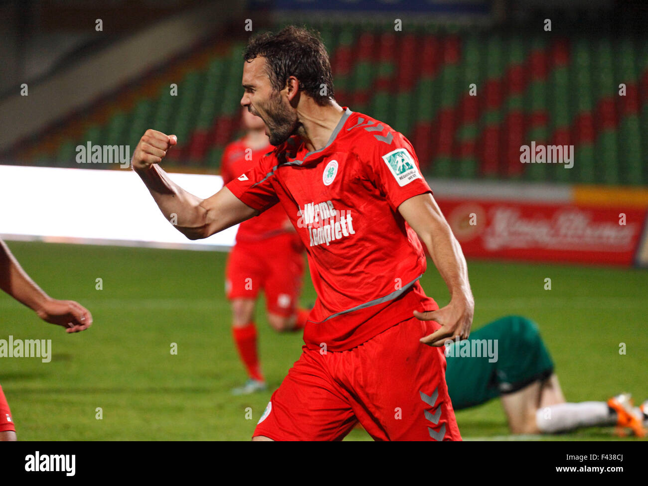sports, football, Regional League West, 2015/2016, Rot Weiss Oberhausen versus VfL Sportfreunde Lotte 2:0, Stadium - Stock Image