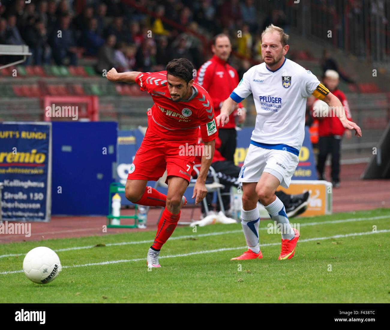 sports, football, Regional League West, 2015/2016, Rot Weiss Oberhausen versus SC Wiedenbrueck 2000 1:0, Stadium Stock Photo