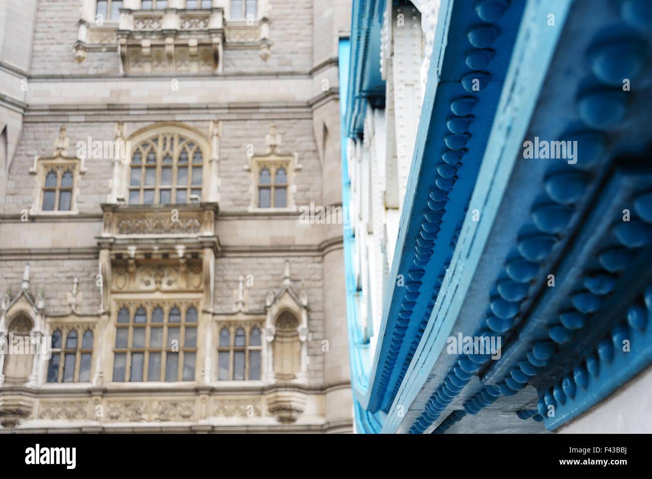 Tower Bridge in London Detail Stock Photo