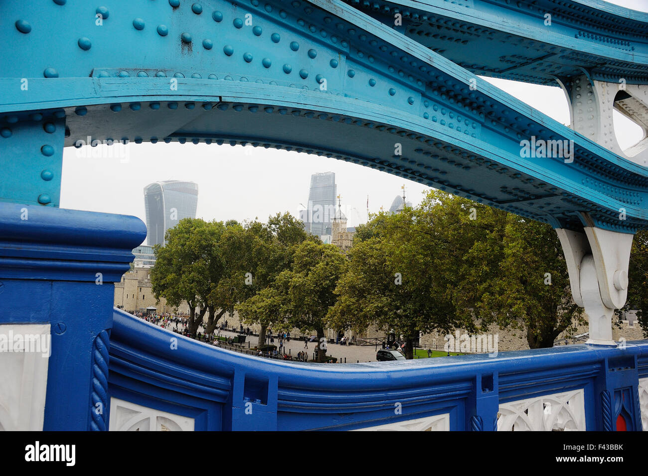 London City seen from Tower Bridge Stock Photo