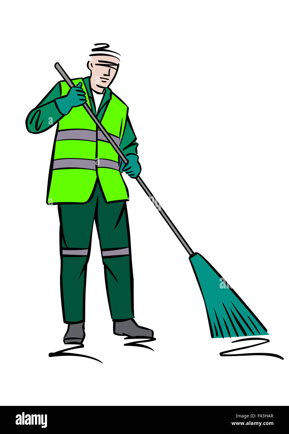 Illustration of a street sweeper - Stock Image