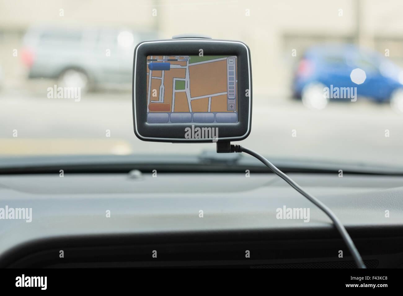 Screen of satellite navigation system - Stock Image