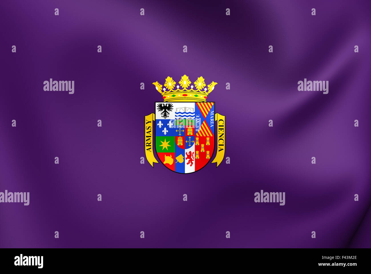 Flag of Palencia Province - Stock Image