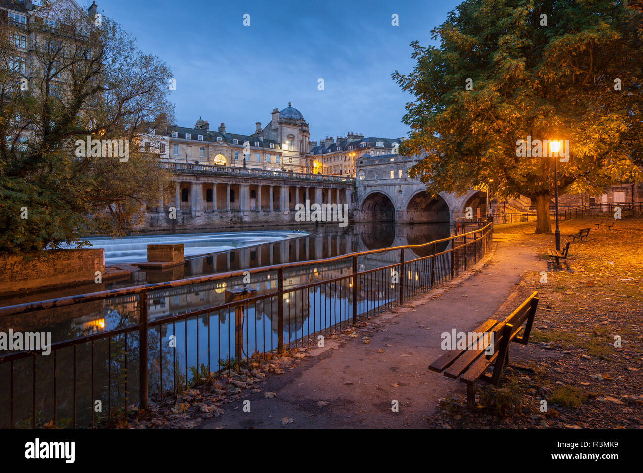 Early autumn morning in Bath, Somerset, England. - Stock Image