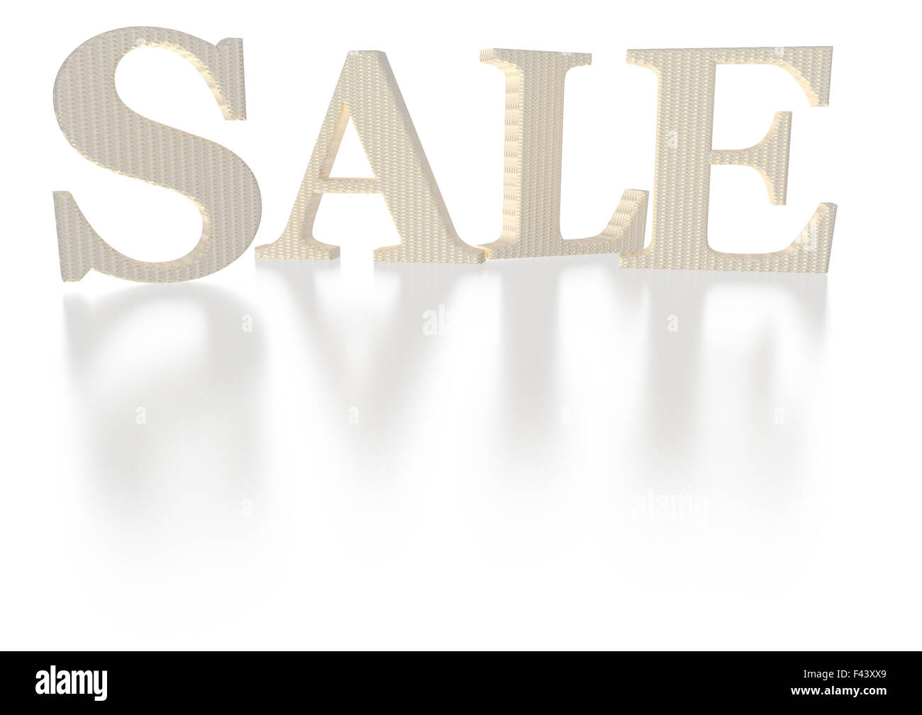 Three-dimensional inscription Sale Stock Photo