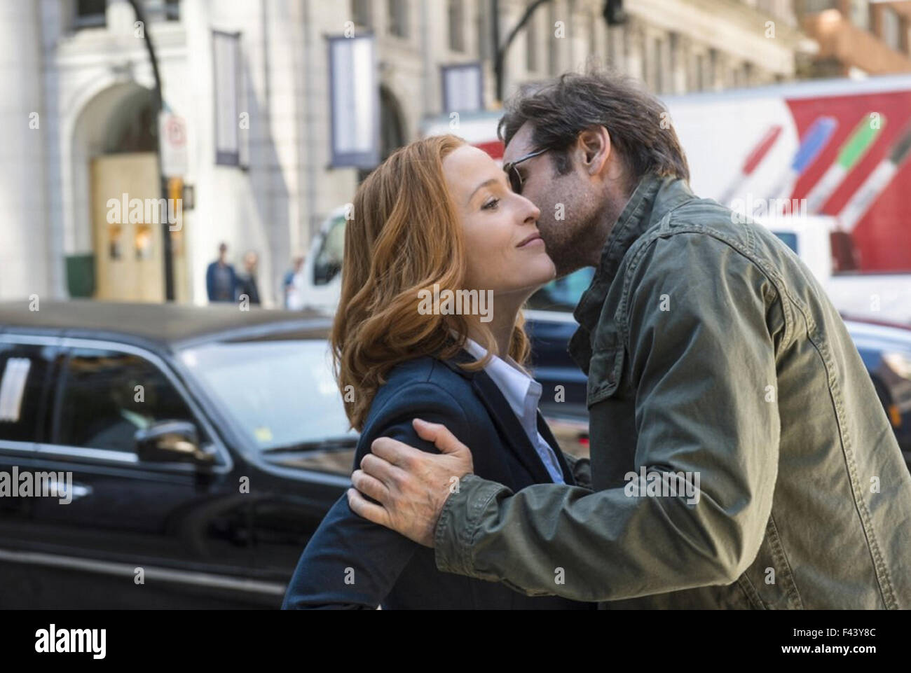 THE X-FILES 2016 Fox Broadcasting film with Gillian Anderson and David Duchovny - Stock Image