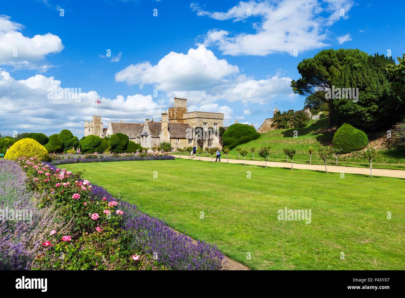 Rockingham Castle, near Corby, Northamptonshire, England, UK Stock Photo