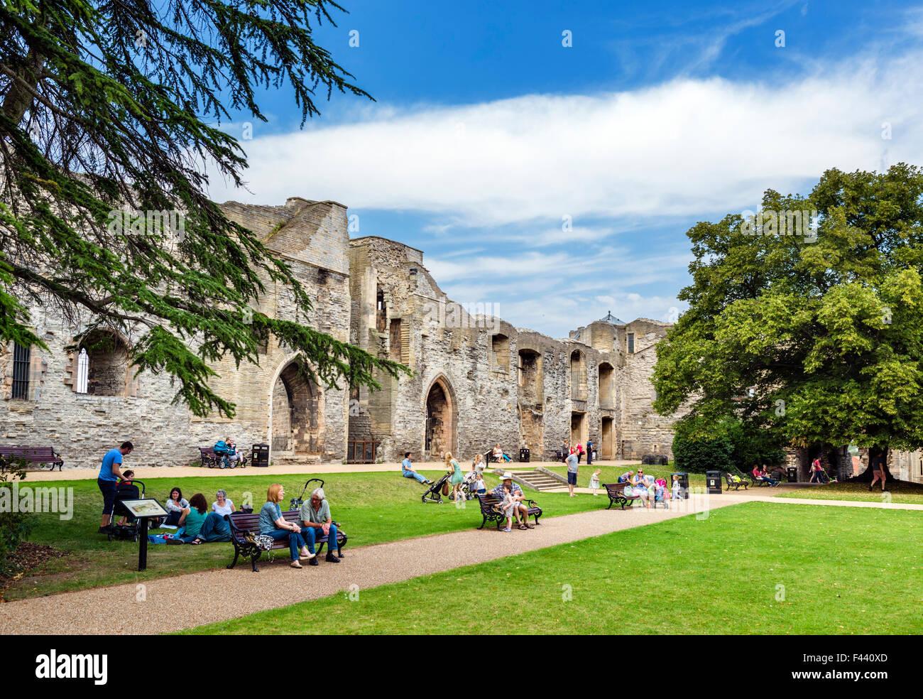 The ruins of Newark Castle, Newark-on-Trent, Nottinghamshire, England, UK - Stock Image