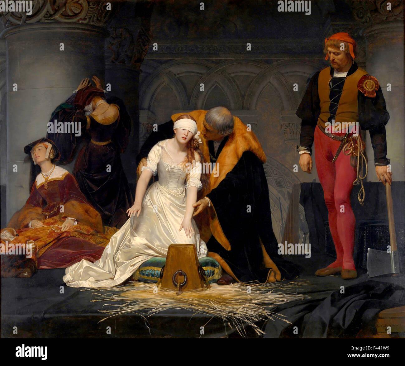 The Execution of Lady Jane Grey - Stock Image